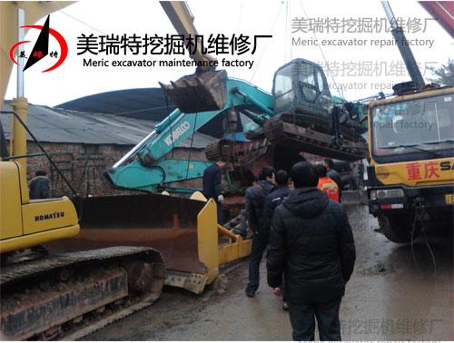 130-8型神钢挖掘机维修图片